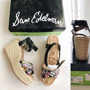 New SAM EDELMAN Destin Espadrille Wedge Sandals
